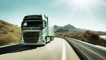 Volvo FH tractor on the road