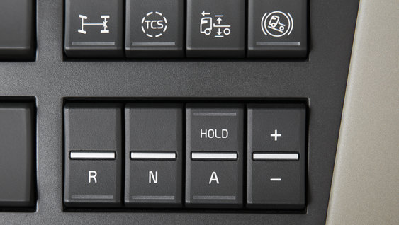 I-Shift can be controlled from a four-switch panel on the dash