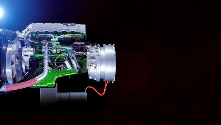 Volvo Trucks hybrid engine.